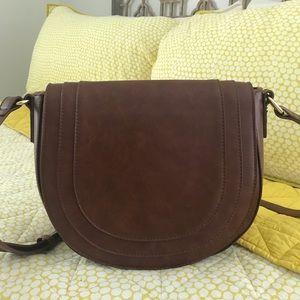NWOT Sole Society Piri Faux Leather Saddle Bag